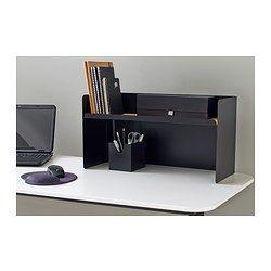 IKEA - BEKANT, Estante para escritorio, negro, , Se fija a los tableros BEKANT y proporciona fácil acceso al contenido liberando la superficie de la mesa.