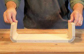 bent kerf cut plywood