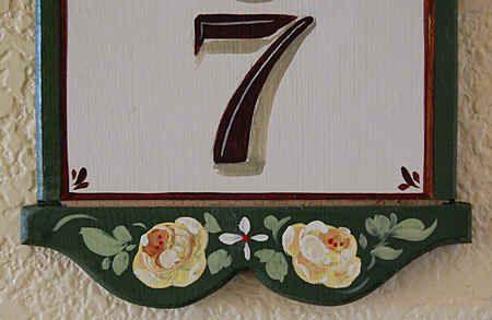 Hausnummern, Handgemalte Hausschilder nach ihrer Wahl