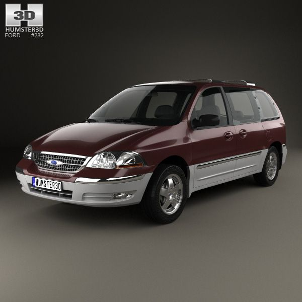 Ford Windstar 1999 3d model from Humster3D.com.