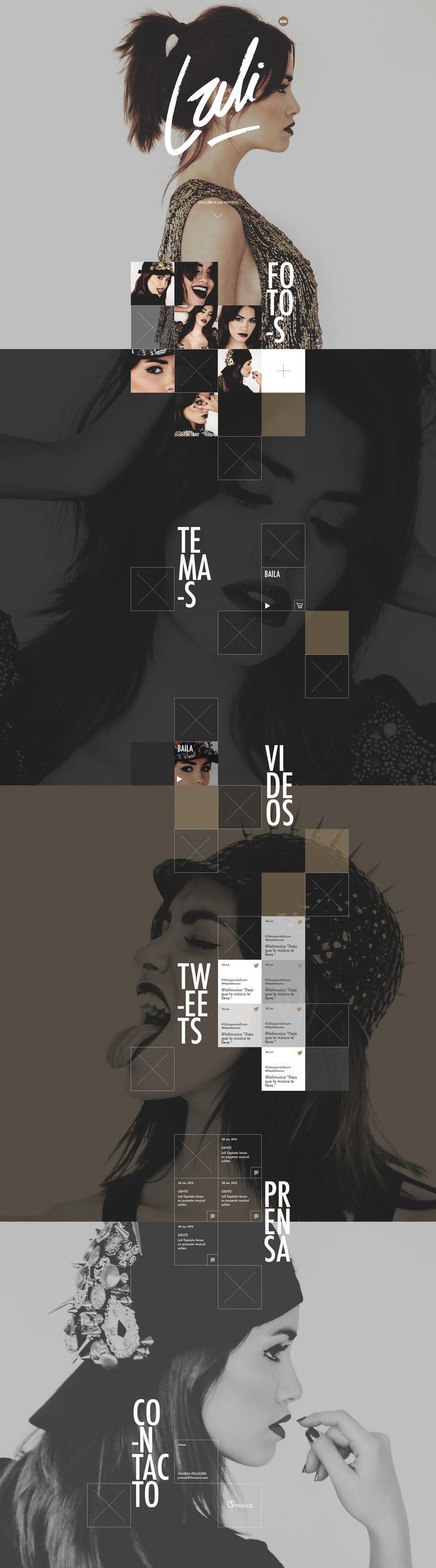 Lali Esposito Website by Visualbox