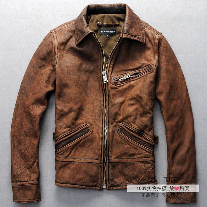 Find More Leather & Suede Information about Free Shipping 2015 New Men Leather Jacket 100% Genuine Cow Skin Biochemical locomotive Motorcycle Retro Casual Youth Lapel Coat,High Quality coat baby,China coat red Suppliers, Cheap coat of arm designs from ShowGirl Fashion on Aliexpress.com