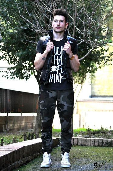 Scout Pants, Happiness T Shirt, The Nord Face Jacket, Converse Shoes