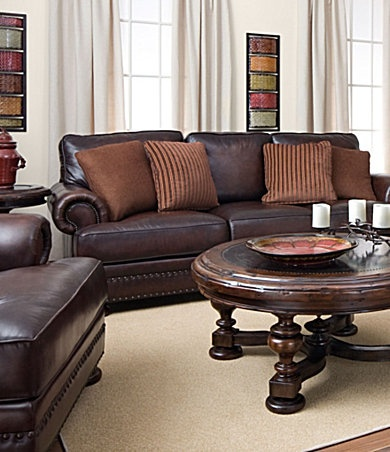 Dillards Bernhardt Seth Leather Sofa 1600 Sale Leather
