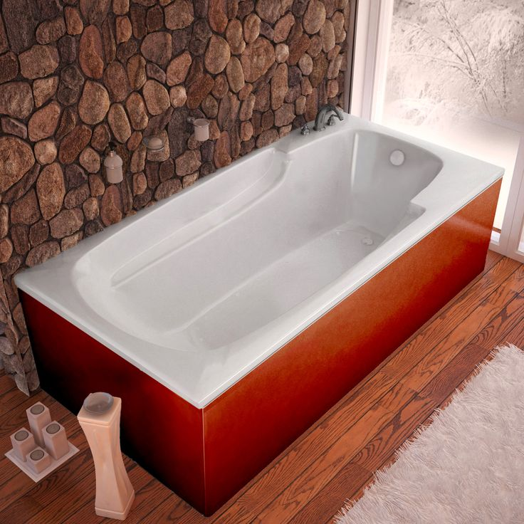 Venzi VZ3672EAR Aesis 36 x 72 Rectangular Air Jetted Bathtub with ...