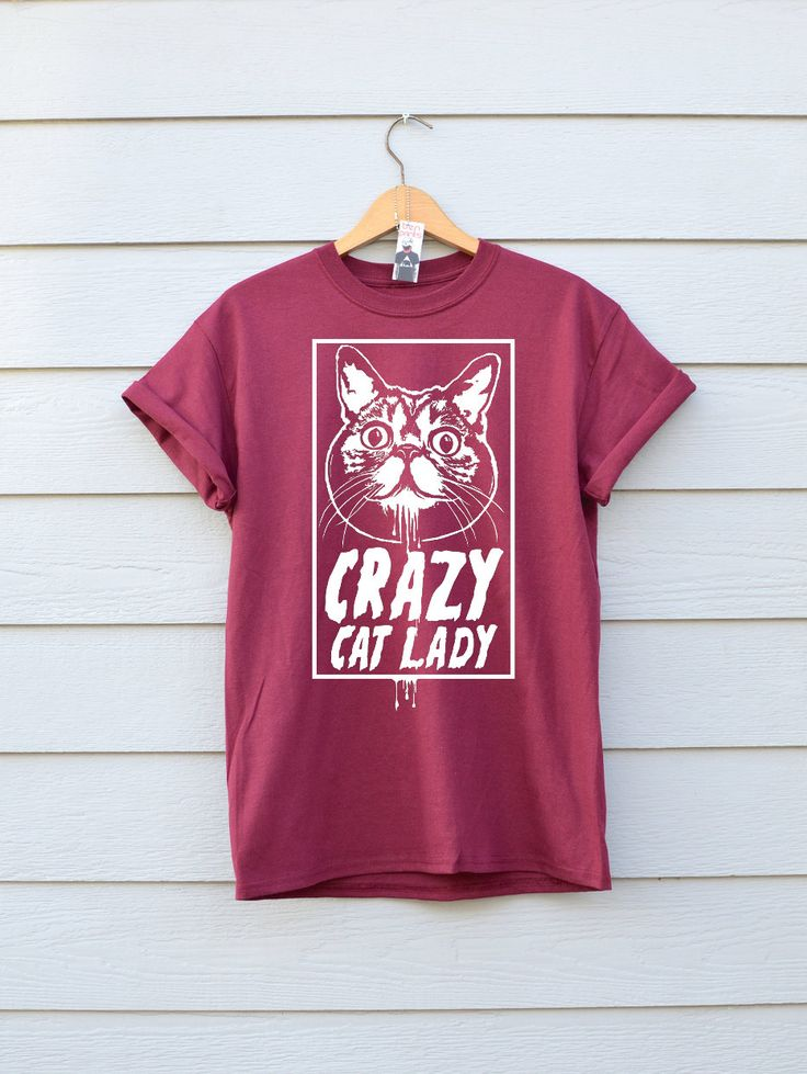 Crazy Cat Lady In Maroon.