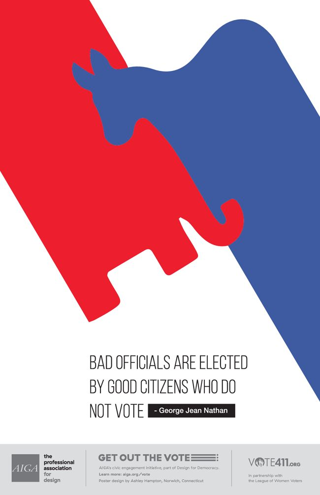 AIGA Get Out The Vote Posters To Attend Party Conventions – Graphic Design USA