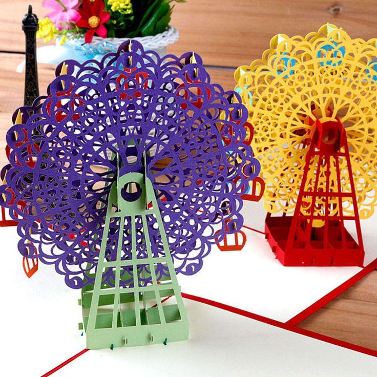 Aliexpress.com: Comprar Noria Diseño creativo 3D Tarjeta de Felicitación de Acción de Gracias Navidad Escarda Sup de design greeting cards fiable proveedores en Bangood Store