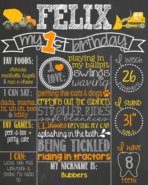 Construction Theme Birthday Chalkboard Poster // Under Construction // Construction Birthday by PersonalizedChalk, $37.00
