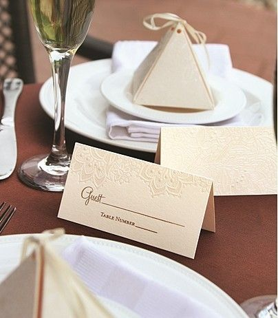 buy lace shimmers collection floral lace design place cards set of and other party favors and gifts