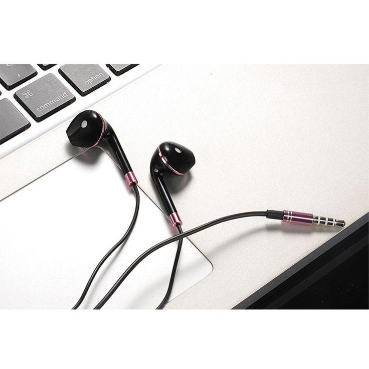 Écouteurs Urban intra-auriculaires avec micro - Noir / Or Rose