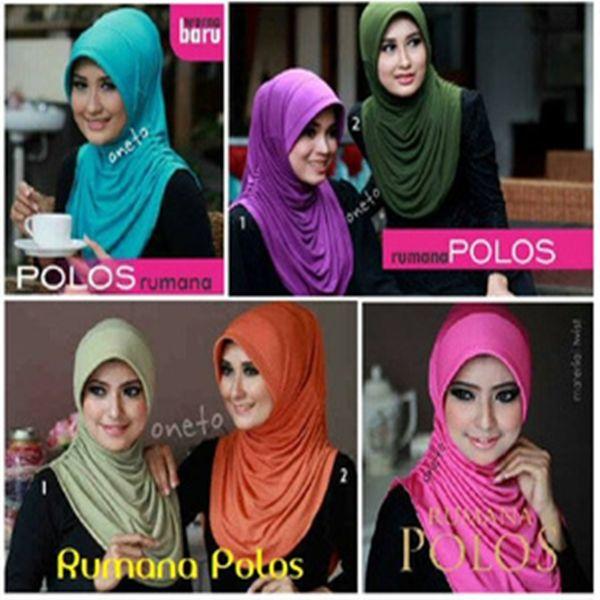 Hijab Instan Rumana Polos Model 2017 Terbaru Harga Murah Keterangan warna : – hitam – abu muda/silver – hijau muda (ON MODEL) – putih – krem – mocca/milo