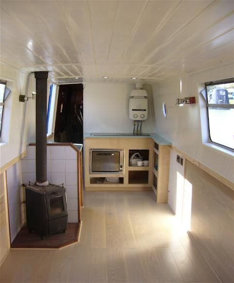 Narrowboat Interior Refurb Tiny Kitchen Works For Me