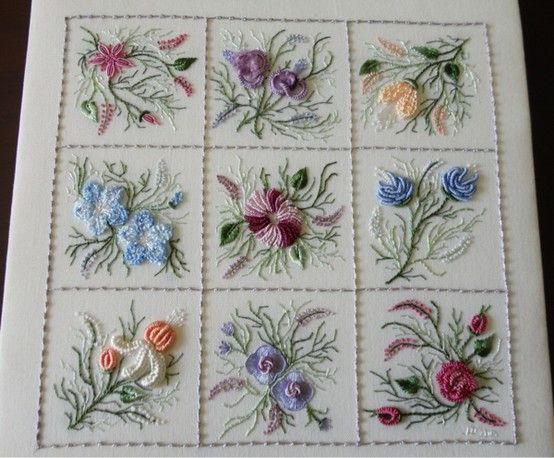Brazilian Embroidery, Nine Flower Sampler, EdMar