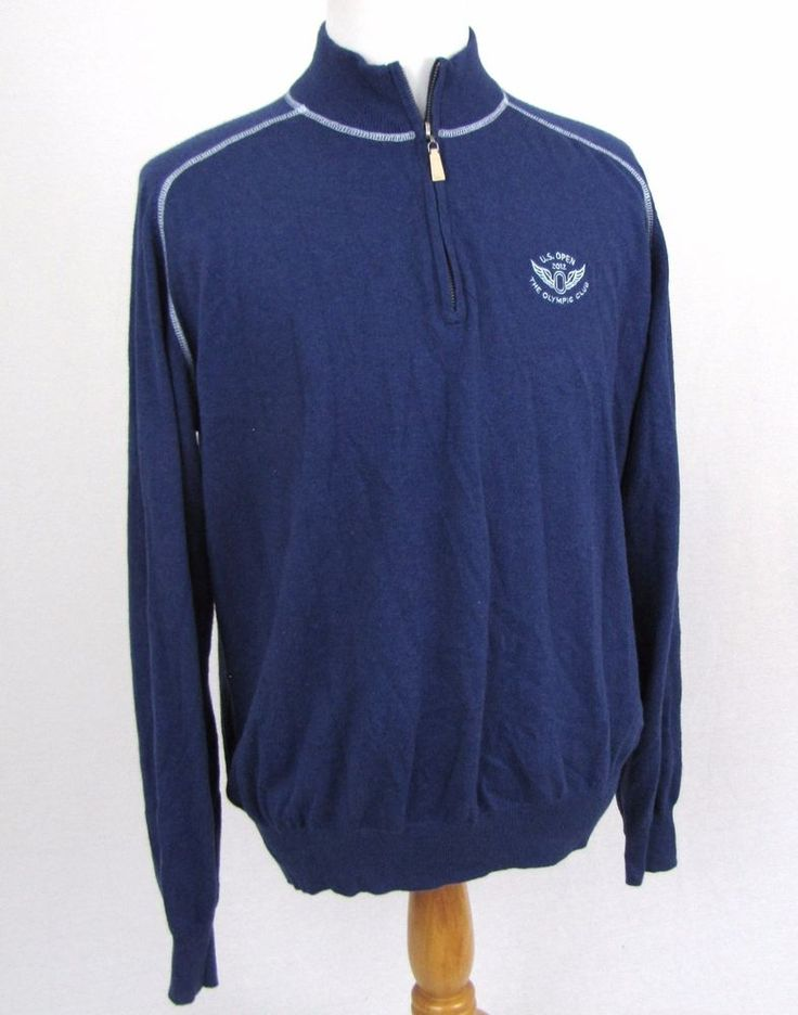 Peter Millar Sweater Large 2012 US Open Golf Cotton Cashmere 1/2 Zip Pullover #PeterMillar #12Zip