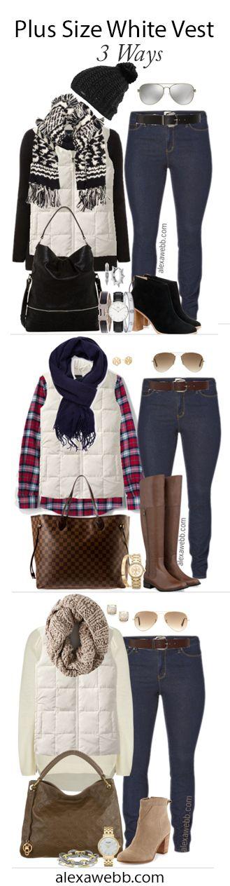 Plus Size Fashion - Alexa Webb Plus Size Vest Outfit Ideas - alexawebb.com #alexawebb
