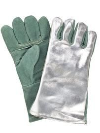 "National Safety Apparel® One Size Fits Most 13"" Green Heat Resistant Gloves With Cotton And Wool Lining"