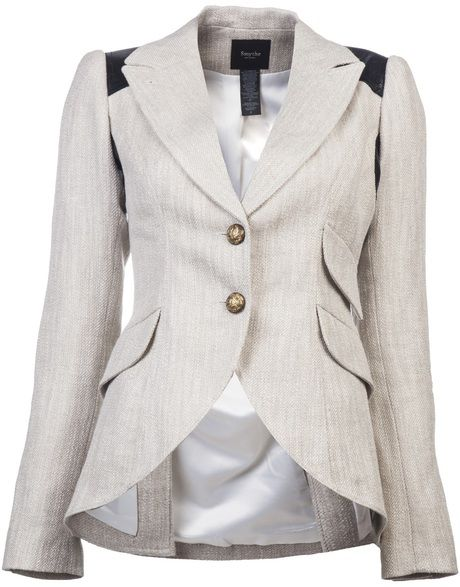 Smythe Beige Equestrian Blazer- Oh so chic! I wish I could hqve worn this back in the day.
