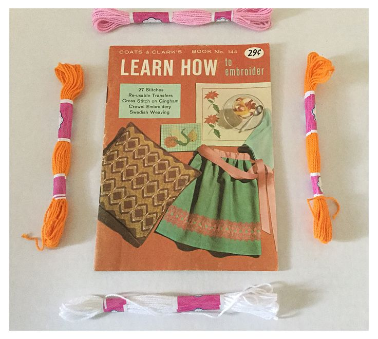 Vintage Learn How to Embroider Book No. 144 by Coats and Clark's by ABlueHerronCreation on Etsy