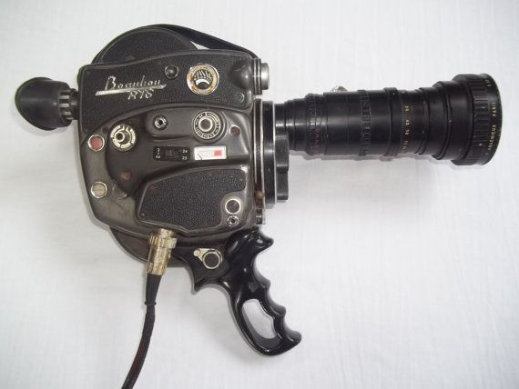 Vintage Beaulieu R76 French Movie Camera 16mm Motion Film Handheld 50s 60s As Is…