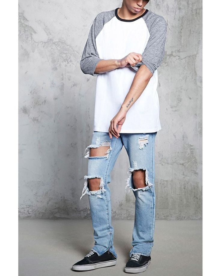 Buy Forever 21 Men's White Marled Sleeve Baseball Tee, starting at $12. Similar products also available. SALE now on!