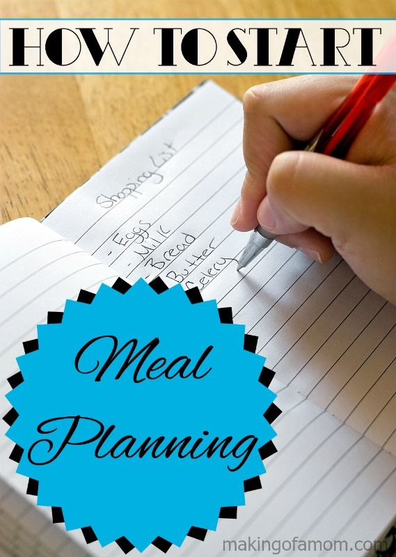 How to Start Meal Planning - a simple getting started guide!