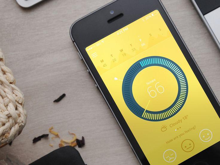 Hayfever app by Morgan Jones #UX #UI #interface #userinterface #userexperience #inspiration #mobile #appdesign #mobileapp #flatdesign #dribbble #behance #ramotion ramotion.com