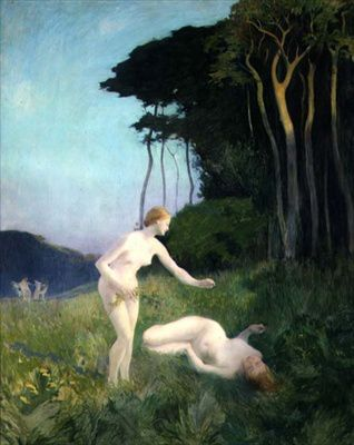 Réne Ménard - Jeune filles jouant