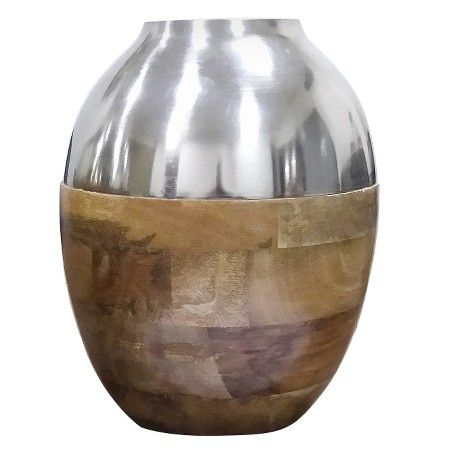 Silver and Wood Vase Small - Threshold™ : Target