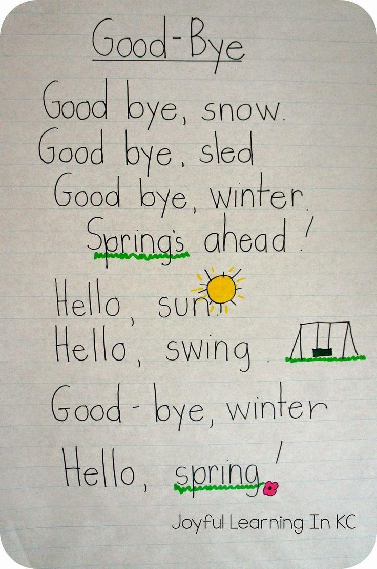 Best 25+ Spring poem ideas on Pinterest | Spring poems for kids ...