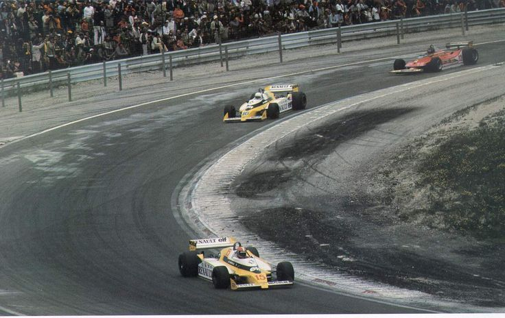 Dijon-Prenois 1979, jean-Pierre Jabouille (Renault RS10) on his way for his 1st win, leading team mate René Arnoux and Gilles Villeneuve (Ferrari 312T4) for what is still today the most exciting and impressive finish of F1 History... 1st F1 win of a Turbo engine and the demonstration of the 'fighting spirit' between 2 true racers and competitors..