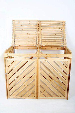 Jago MEMB01 contenitori differenziata box in legno: Amazon.it: Giardino e giardinaggio