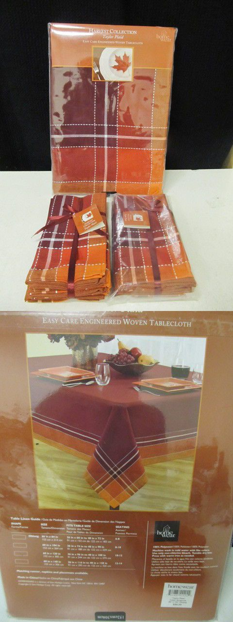Linens and Pillows 52346: Homewear Autumn Taylor Plaid 9Pc 60 X 120 Oblong Tablecloth 8 Napkins Nip -> BUY IT NOW ONLY: $37.46 on eBay!