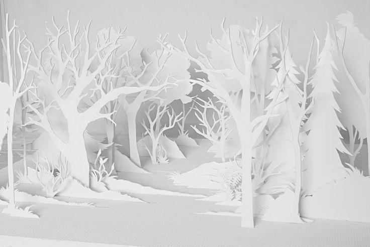 Une forêt apparaissant par un subtil jeu de découpes.