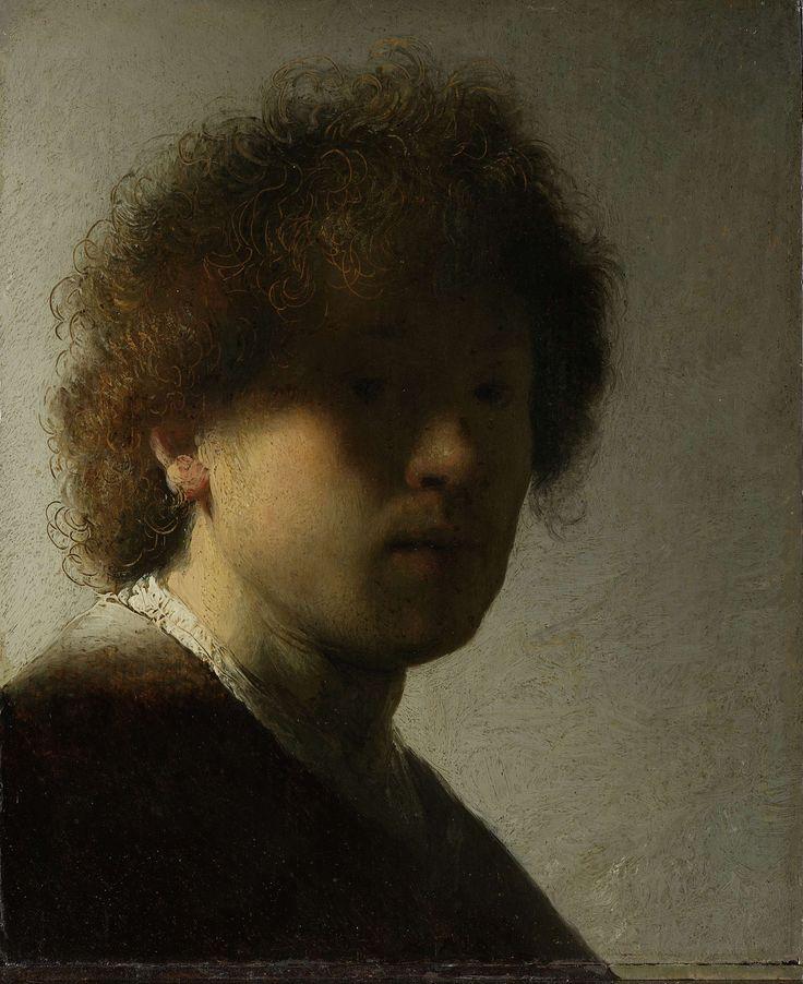 Rembrandt, Zelfportret op jeugdige leeftijd (1628-29, Rijksmuseum, Amsterdam)