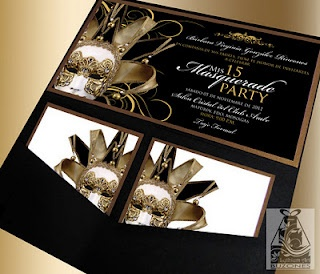 Invitaciones/Invitations  (15 Años/Sweet 16)  Masquerade Party  Design by: Yil Siritt