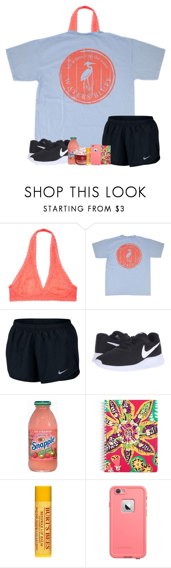 """""""QOTD: What's Your Favorite Food?"""" by katie-1111 ❤ liked on Polyvore featuring NIKE, Vera Bradley, Burt's Bees and LifeProof"""