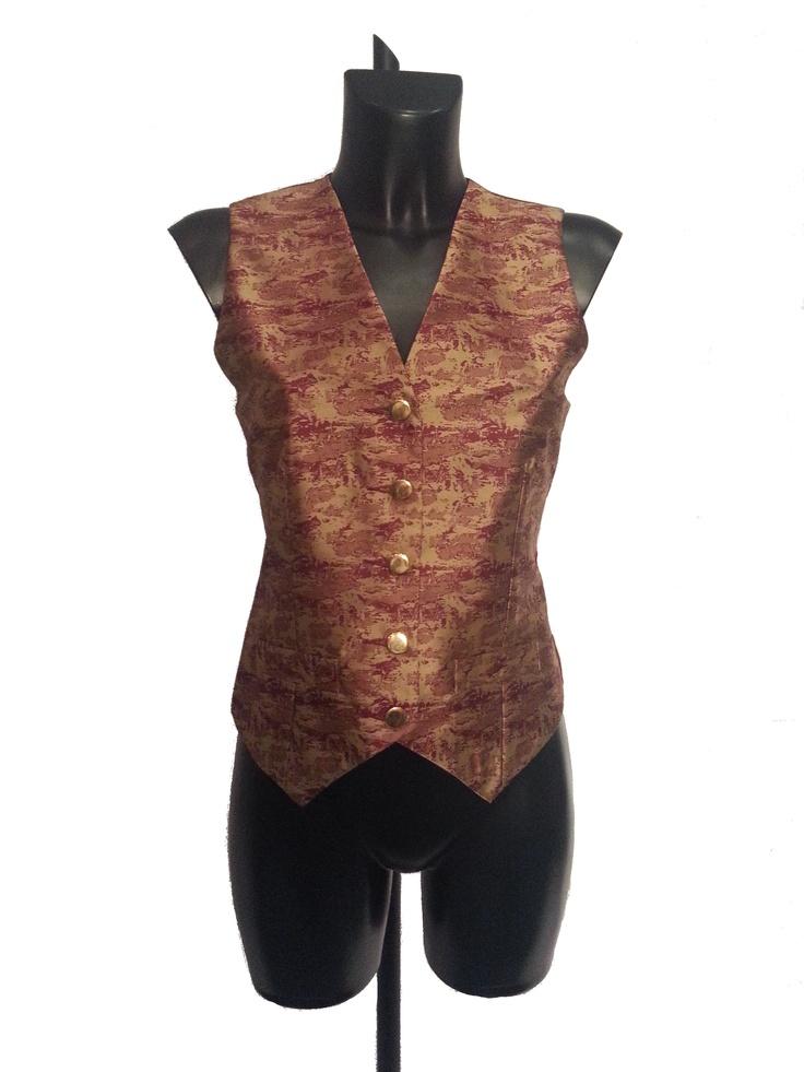 Ladies Waistcoat Burgundy Jacquard Red £9.99 #bizitalk #locatebiz