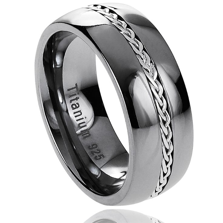 in ring titanium black two bands mens wedding men with for satin rings