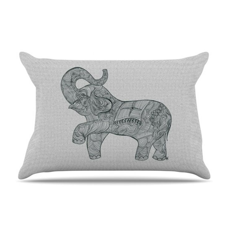 Elephant Microfiber Fleece Pillow Case | Wayfair