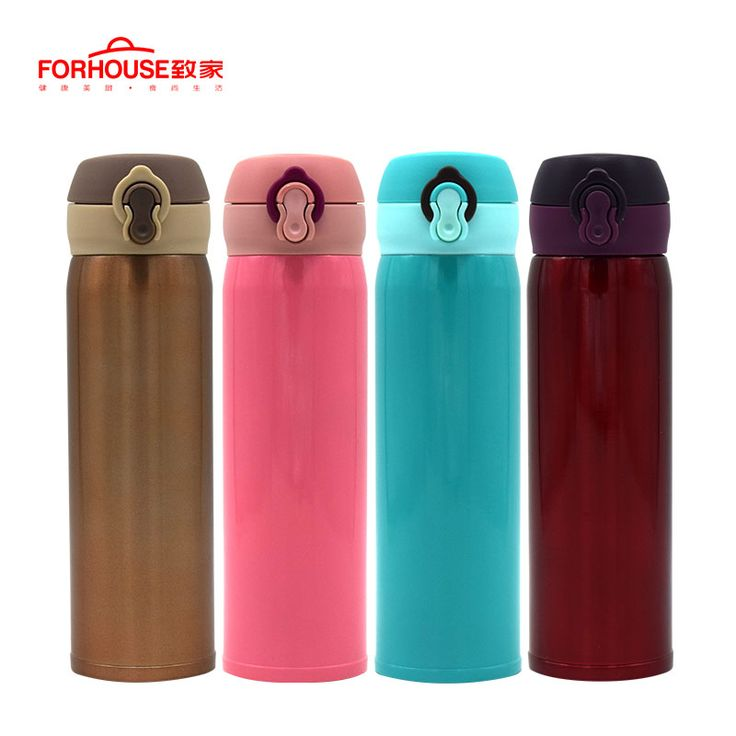 Find More Vacuum Flasks & Thermoses Information about 500ml Vacuum Flasks Thermoses Press Bounce Cup Stainless Steel Outdoor Sports Drinking Water Insulation Bottle,High Quality vacuum flask,China vacuum flasks thermoses Suppliers, Cheap flask vacuum from Forhouse cookware Store on Aliexpress.com