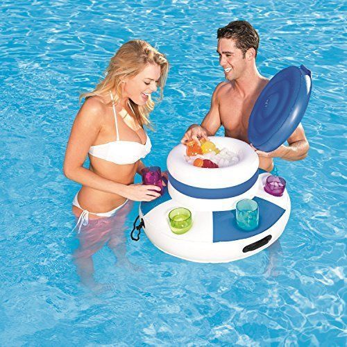 Pool-Cooler-CoolerZ-Water-Fun-Floating-Raft-Swimming-Accessory-Pool-Party