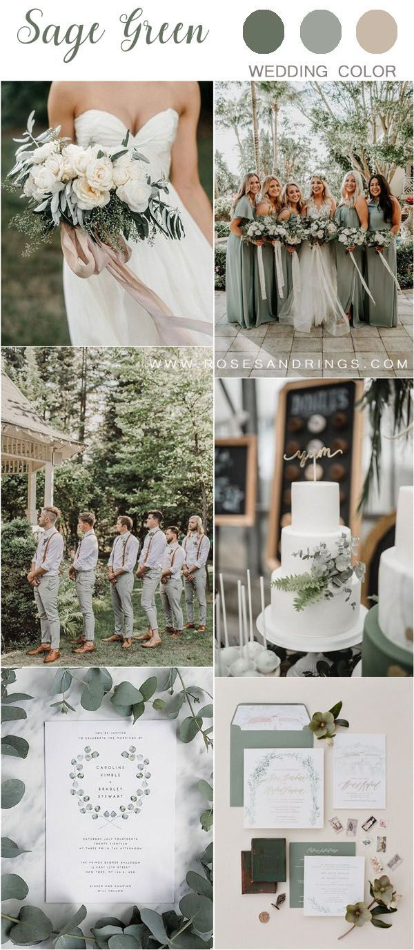 30 Sage Green Wedding Color Ideas For 2020 Spring Wedding