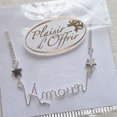 """Collier prénom - message """"amour"""""""