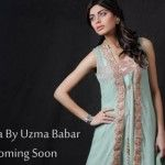 New Beautiful Dresses Umsha Sneak Preview By uzma Babar Gold For Women 2013
