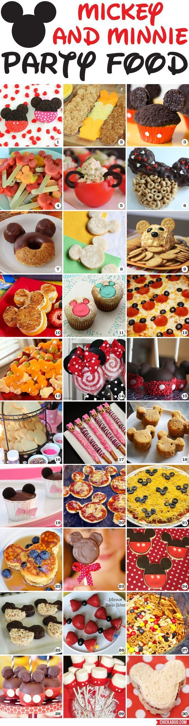 30 awesome Mickey Mouse and Minnie Mouse party food ideas! | Disney Party Ideas…