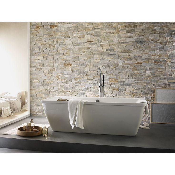 1000 id es sur le th me baignoire en pierre sur pinterest spa ext rieur model de l 39 evier et for Peinture salle de bain naturelle