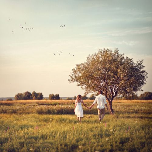 Walk with me. We could just keep walking into a new life where we are together. *hope