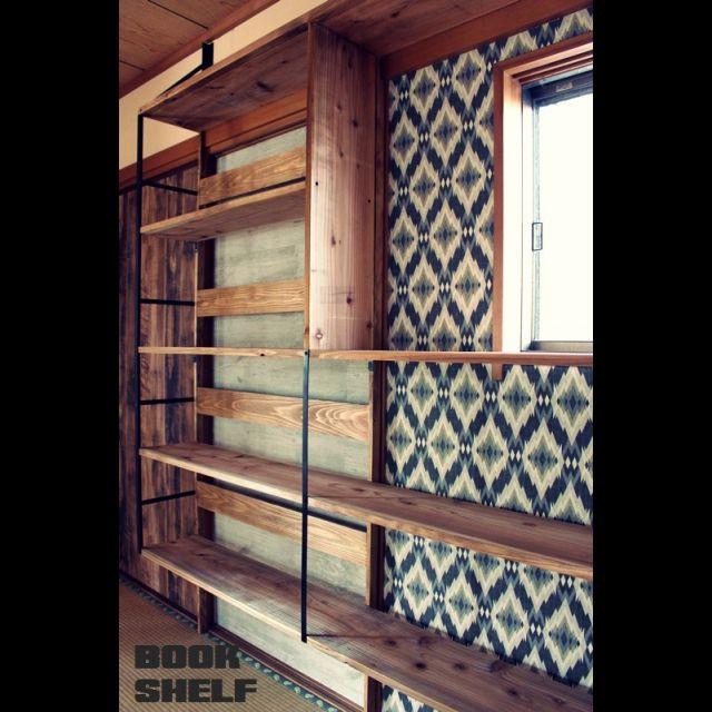 図書音楽室/本棚/セルフリフォーム/手作り家具/棚のインテリア実例 - 2014-11-25 09:55:04   RoomClip(ルームクリップ)