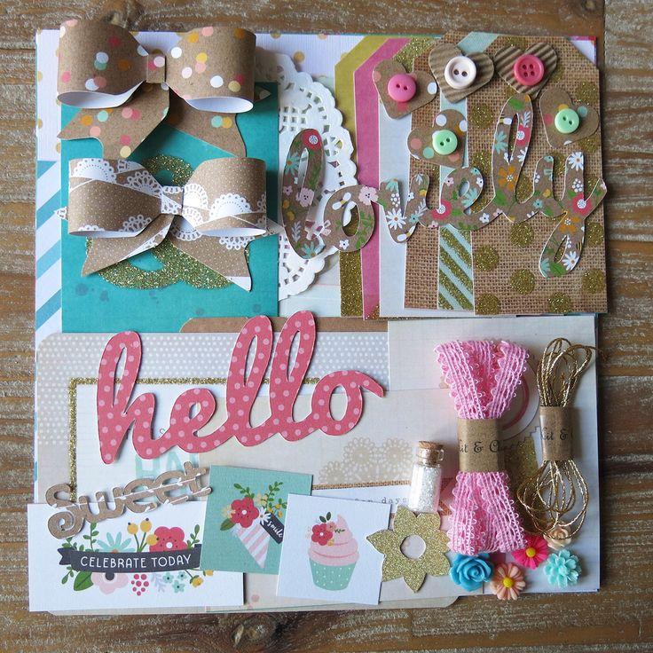 Scrapbooking / kaart maken pak - vrij goud roze turquoise - kaart toppers, papier, decoratie door KitandCluster op Etsy https://www.etsy.com/nl/listing/493350118/scrapbooking-kaart-maken-pak-vrij-goud